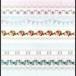 Papír na scrapbook 30,5 x 30,5 cm - Pásy s motýli