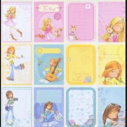 Papír na scrapbook 30,5 x 30,5 cm - Visačky holčička