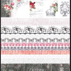 Papír na scrapbook 30,5 x 30,5 cm - Elegy