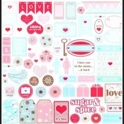 Papír na scrapbook 30,5 x 30,5 cm - Love