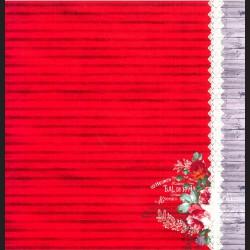 Papír na scrapbook 30,5 x 30,5 cm - Pruhovaný červený
