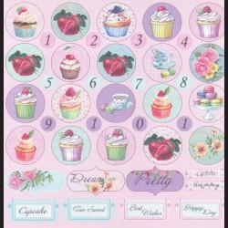 Papír na scrapbook 30,5 x 30,5 cm - Muffiny