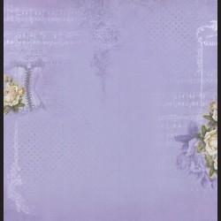 Papír na scrapbook 30,5 x 30,5 cm - Korzet, růže