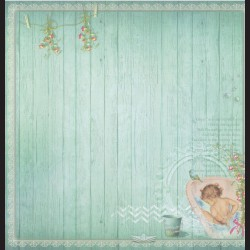 Papír na scrapbook 30,5 x 30,5 cm - Bath-time