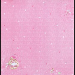 Papír na scrapbook 30,5 x 30,5 cm - Pretty In Pink