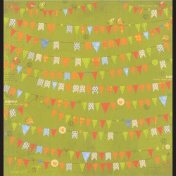 Papír na scrapbook 30,5 x 30,5 cm - Flags