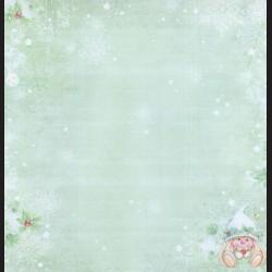 Papír na scrapbook 30,5 x 30,5 cm - Mistletoe & Winter Stars