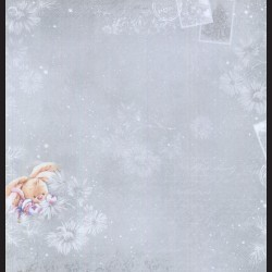 Papír na scrapbook 30,5 x 30,5 cm - Seasons Greeting