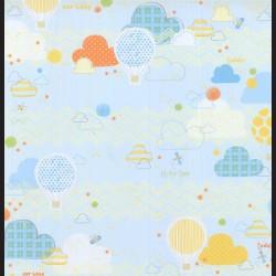 Papír na scrapbook 30,5 x 30,5 cm - Balóny horkovzdušné