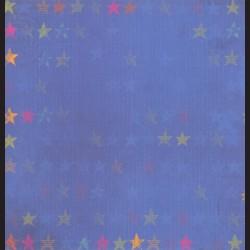 Papír na scrapbook 30,5 x 30,5 cm - Hvězdy modré