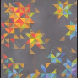 Papír na scrapbook 30,5 x 30,5 cm - Ornament trojúhelníky