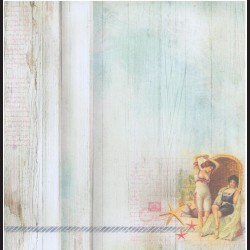 Papír na scrapbook 30,5 x 30,5 cm - Ženy v lehátku