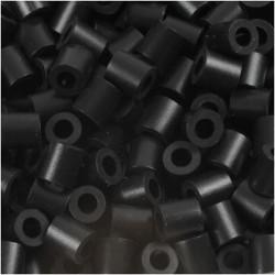Korálky zažehlovací - černé, 5 x 5 mm, 850 ks