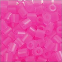 Korálky zažehlovací - neonové růžové, 5 x 5 mm, 850ks