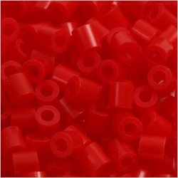 Korálky zažehlovací - červené, 5 x 5 mm, 6000ks