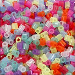 Korálky zažehlovací - mix glitrový, 5 x 5 mm, 850 ks