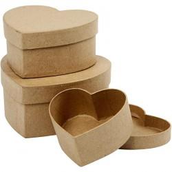Kartonová dárková krabička srdce, krabičky z papíru, dárkové krabičky srdíčko, krabičky na decoupage