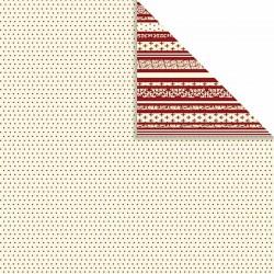 Papír na scrapbook 30,5 x 30,5 cm - Puntíkovaný bílý