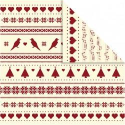 Papír na scrapbook 30,5 x 30,5 cm - Vánoční motiv