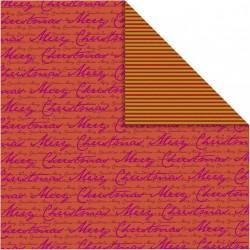 Papír na scrapbook 30,5 x 30,5 cm - Merry christmas 2