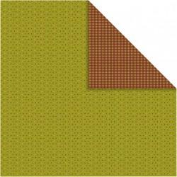 Papír na scrapbook 30,5 x 30,5 cm - Puntíkovaný zelený
