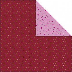 Papír na scrapbook 30,5 x 30,5 cm - Srdíčka malá
