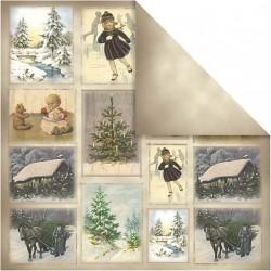 Papír na scrapbook 30,5 x 30,5 cm - Vánoční motivy