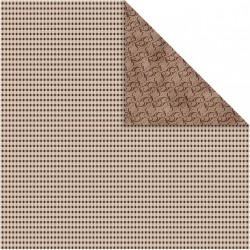 Papír na scrapbook 30,5 x 30,5 cm - Kostky hnědé