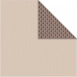 Papír na scrapbook 30,5 x 30,5 cm - Hnědý ornament