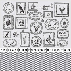 Papír na scrapbook 30,5 x 30,5 cm - Cool xmas