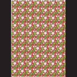 Fotokarton  A4 knoflíky zelené, tvrdý karton 300g vhodný na výrobu přání, tvoření s dětmi, scrapbook a další tvoření