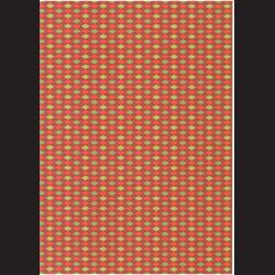 Fotokarton  A4 kosočtvercový vzor červený, tvrdý karton 300g vhodný na výrobu přání, tvoření s dětmi, scrapbook a další tvoření