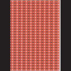 Fotokarton  A4 kosočtvercový vzor oranžový, tvrdý karton 300g vhodný na výrobu přání, tvoření s dětmi, scrapbook a další tvoření