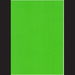 Fotokarton  A4 puntíkovaný zelený, tvrdý karton 300g vhodný na výrobu přání, tvoření s dětmi, scrapbook a další tvoření