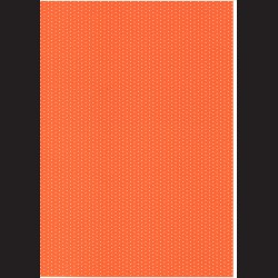 Fotokarton A4 Puntíkovaný oranžový