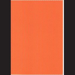 Fotokarton  A4 puntíkovaný oranžový, tvrdý karton 300g vhodný na výrobu přání, tvoření s dětmi, scrapbook a další tvoření