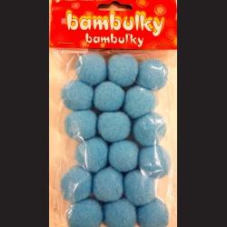 Plyšové bambulky modré