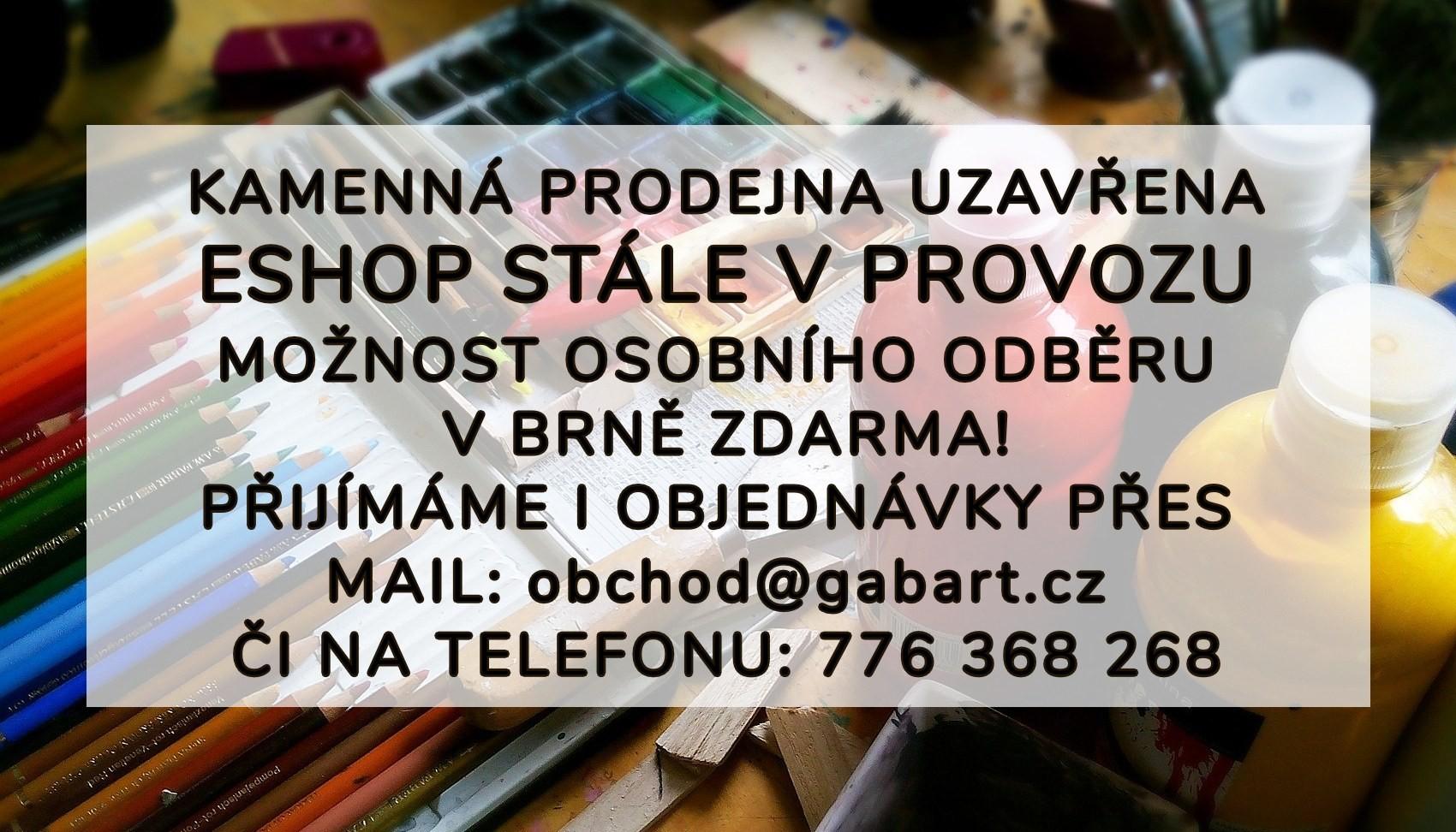 Výtvarné potřeby Brno osobní odběr
