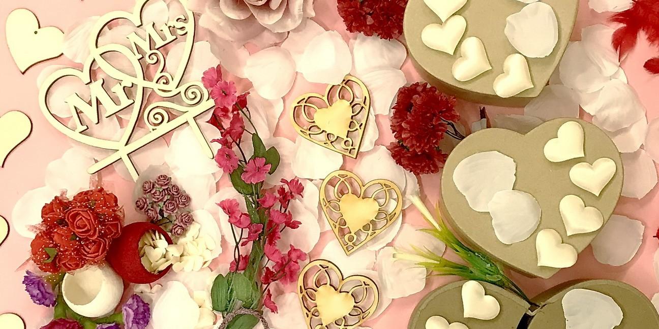 Krabičky, dekorace, svatba
